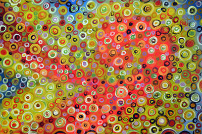 Abstract Painting - Going In Circles by Amy Giacomelli