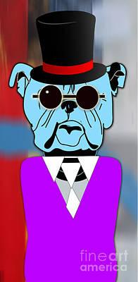 Going Somewhere Bulldog Print by Marvin Blaine