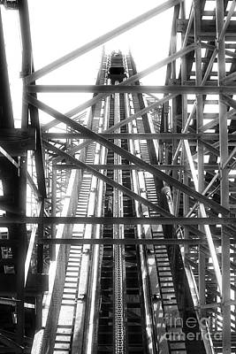 Roller Coaster Photograph - Going Up by John Rizzuto