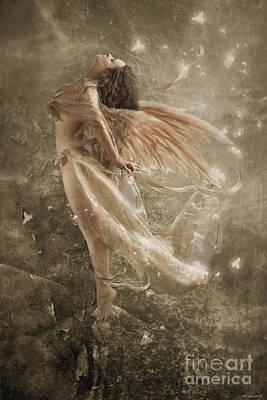 Rock Angels Digital Art - Going With The Wind by Babette Van den Berg