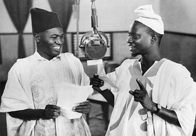 Ghana Photograph - Gold Coast Africa Broadcasting by Underwood Archives