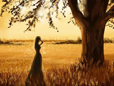 Digital Painting - Gold Field by Veronica Minozzi