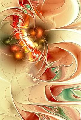 Meditation Digital Art - Gold Fish by Anastasiya Malakhova