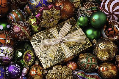 Gold Gift Box Print by Garry Gay