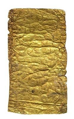 Amulet Photograph - Gold Magic Amulet by Photostock-israel