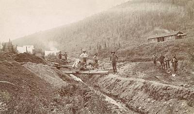 Prospecting Photograph - Gold Mining In California by Library Of Congress