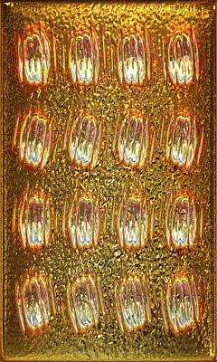 Collectible Mixed Media - Gold Panel 05 by Li   van Saathoff