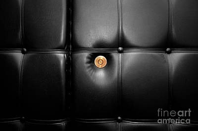 Conceptual Photograph - Gold Peephole In Luxury Leather Door by Michal Bednarek