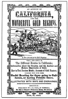 Forty Painting - Gold Rush Guidebook, 1849 by Granger