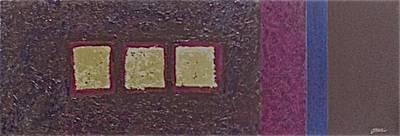 Gold Squares Print by Jim Ellis