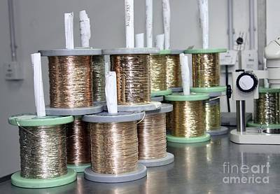 Gold Wires For Jewelry Manufacture Print by RIA Novosti