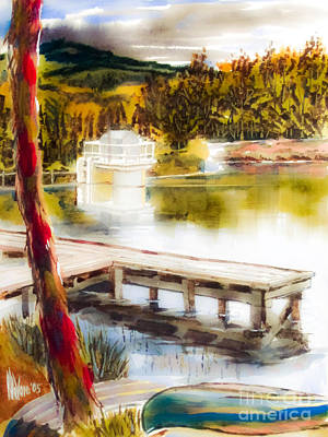 Canoe Mixed Media - Golden Afternoon by Kip DeVore