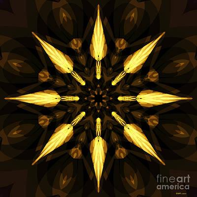 Digital Digital Art - Golden Arrows by Elizabeth McTaggart
