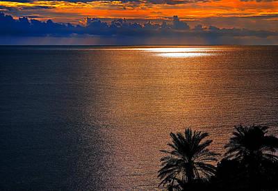 Golden Bay Sunset Original by Tomasz Dziubinski