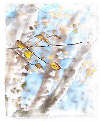 Windblown Digital Art - Golden Birch by Caitlyn  Grasso