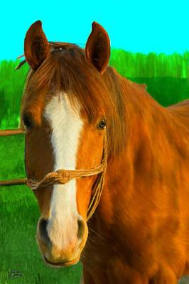 Horse Painting - Golden Brown Horse by Bruce Nutting