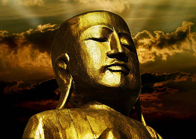 Golden Buddha Print by Joachim G Pinkawa