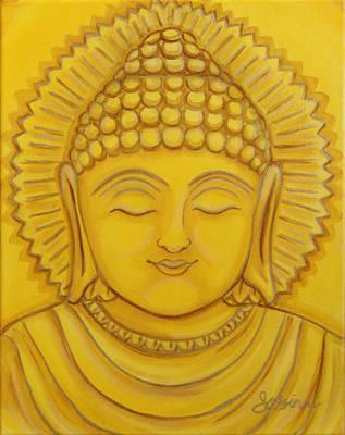 Buddhist Painting - Golden Buddha by Sabina Espinet