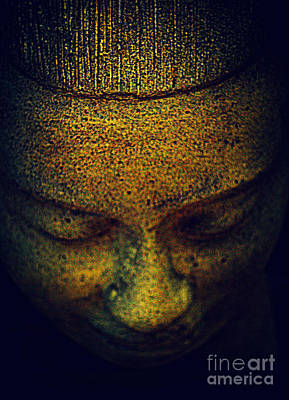 Golden Buddha Print by Susanne Van Hulst