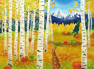 Golden Colorado Day Print by Harriet Peck Taylor