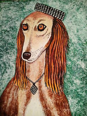 Golden Dog Print by Jasna Gopic