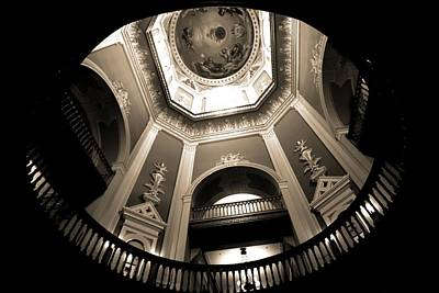 Notre Dame Photograph - Golden Dome Ceiling by Dan Sproul