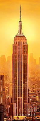 Urban Art Photograph - Golden Empire State by Az Jackson