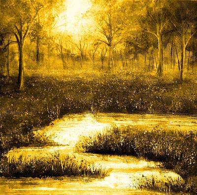 Golden Evening Print by Ann Marie Bone