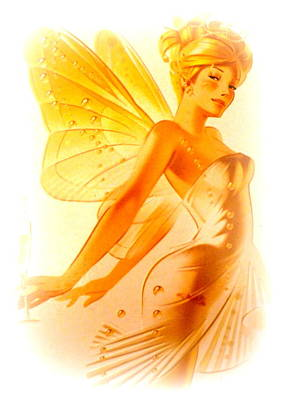 Golden Fairy Print by The Creative Minds Art and Photography
