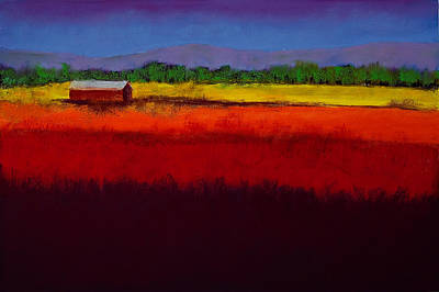 Impressionistic Painting - Golden Field by David Patterson