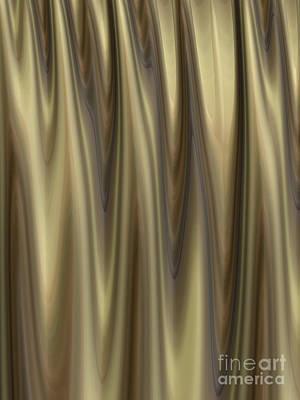 Gold Abstract Digital Art - Golden Folds by John Edwards