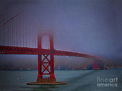 Sausalito Photograph - Golden Gate Bridge  ... by Chuck Caramella
