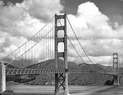 Headlands Photograph - Golden Gate Bridge by Underwood Archives