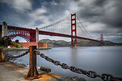 Golden Gate Bridge Print by Eduard Moldoveanu