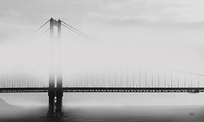 Golden Gate Bridge - Fog And Sun Print by Ben and Raisa Gertsberg