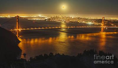 Golden Gate Mixed Media - Golden Gate Bridge  by Kenny  Noddin