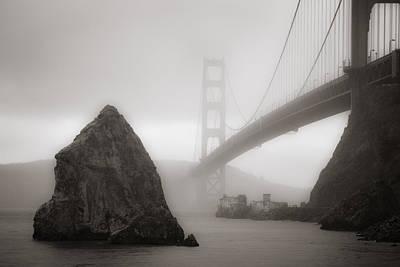 Golden Gate Bridge Print by Niels Nielsen