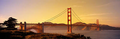 Golden Afternoon Photograph - Golden Gate Bridge San Francisco Ca Usa by Panoramic Images