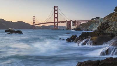 Golden Gate Bridge Sunset Study 6 Print by Scott Campbell