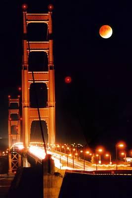 Golden Gate Night Print by DJ Florek