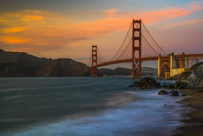 Golden Gate Print by Peter Irwindale