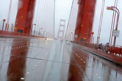 Golden Gate Rain Print by Daniel Furon
