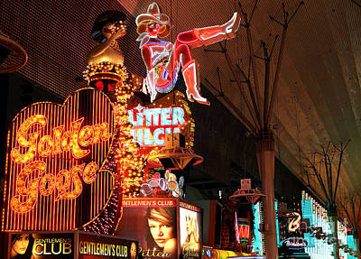 Freemont Street Photograph - Golden Goose by John Rizzuto