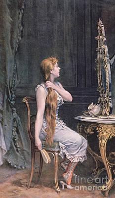 Dressing Painting - Golden Hair by Frederik Hendrik Kaemmerer