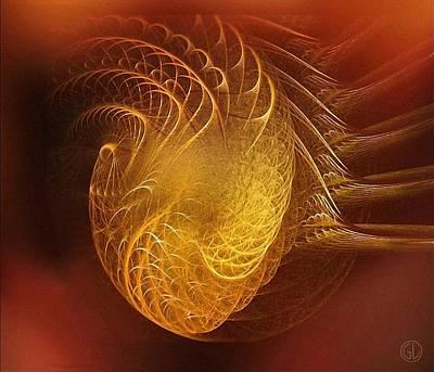Golden Heart Print by Gun Legler