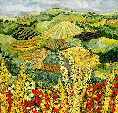 Nature Painting - Golden Hedge by Allan P Friedlander