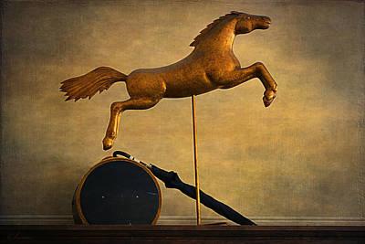 Patina Digital Art - Golden Horse by Maria Angelica Maira