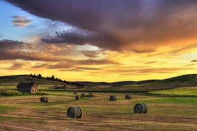Golden Hour Farm Print by Mark Kiver
