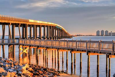 Navarre Beach Photograph - Golden Hour In Navarre by JC Findley