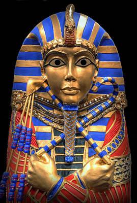 Golden Inner Sarcophagus Of A Pharaoh Print by Daniel Hagerman